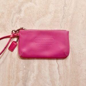 Coach Wristlet Wallet - Pink Genuine Leather